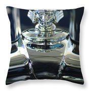 1933 Stutz Dv-32 Hood Ornament 2 Throw Pillow by Jill Reger