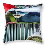 1934 Aston Martin Mark II Short Chassis 2-4 Seater Grille Emblem Throw Pillow
