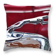 1934 Ford 6 Wheel Equip Hood Ornament Throw Pillow