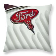 1934 Ford Emblem Throw Pillow