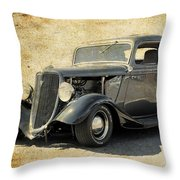 1934 Ford Five Window Coupe Throw Pillow