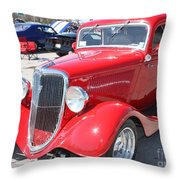 1934 Ford Greyhound Two Door Sedan Throw Pillow