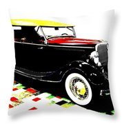 1934 Ford Phaeton V8  Throw Pillow