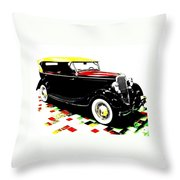 1934 Ford Phaeton V8  Throw Pillow