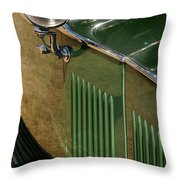 1934 Green Rolls Throw Pillow