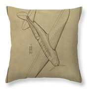 1934 Mail Plane Patent Throw Pillow