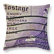 1934 Mothers Of America Three-cent Stamp Throw Pillow