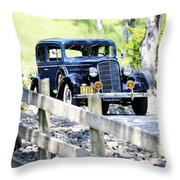 1934 Oldsmobile Touring Coupe 2 Throw Pillow