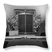 1934 Packard Black And White Throw Pillow