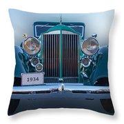 1934 Packard Super 8 Throw Pillow