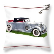 1934 Packard Twelve 1107 Coupe Throw Pillow