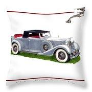 1934 Packard Twelve 1107 Coupe Throw Pillow