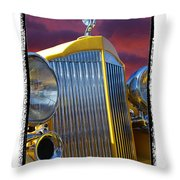 1934 Packard With  Brush Frame Throw Pillow