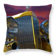 1934 Packard With Posterized Edge Texture Throw Pillow