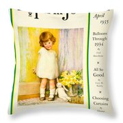 1935 - The National Farm Journal Magazine Cover April - Color Throw Pillow