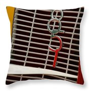 1935 Auburn 851 Cabriolet Grille Emblem Throw Pillow