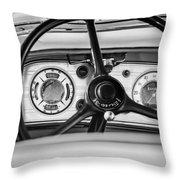 1935 Auburn 851 Supercharged Boattail Speedster Steering Wheel -0862bw Throw Pillow