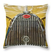 1935 Bugatti Type 57 Roadster Grille Throw Pillow by Jill Reger