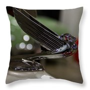 1935 Chevrolet Coupe Emblem Throw Pillow