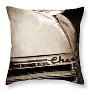 1935 Chevrolet Hood Ornament - Emblem Throw Pillow