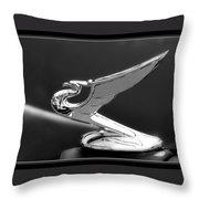 1935 Chevrolet Roadster Dragon Hood Ornament Throw Pillow