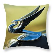 1935 Chevrolet Sedan Hood Ornament 2 Throw Pillow