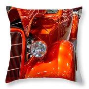 1935 Orange Ford-front View Throw Pillow