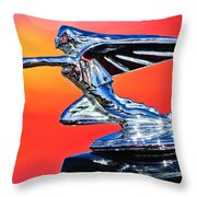 1935 Packard Hood Ornament -0295c Throw Pillow
