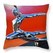 1935 Pontiac Sedan Hood Ornament 2 Throw Pillow