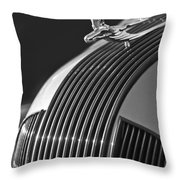 1935 Pontiac Sedan Hood Ornament 3 Throw Pillow