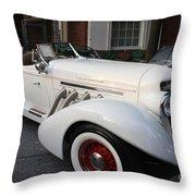 1936 Auburn Super Charger Throw Pillow