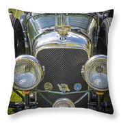 1936 Bentley 4.5 Litre Lemans Rc Series Throw Pillow