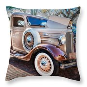 1936 Chevrolet Pick Up Truck Painted    Throw Pillow