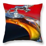 1936 Dodge Ram Hood Ornament 1 Throw Pillow