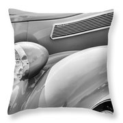 1936 Ford Cabriolet Bw Throw Pillow