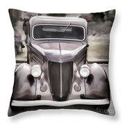 1936 Ford Roadster Classic Car Or Automobile Painting In Color  3120.02 Throw Pillow