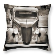1936 Ford Roadster Classic Car Or Automobile Painting In Sepia  3120.01 Throw Pillow