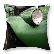 1936 Funeral Truck Headlight Throw Pillow