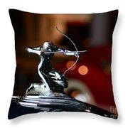 1936 Pierce Arrow Hood Ornament Throw Pillow