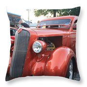 1936 Plymouth Two Door Sedan Front And Side View Throw Pillow