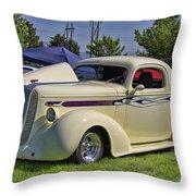 1936 Pontiac Hood Ornament Throw Pillow