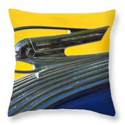 1936 Pontiac Hood Ornament 2 Throw Pillow