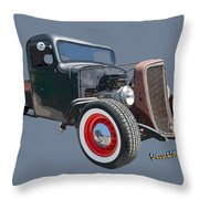 1936 Rat Rod Chevy Pickup Throw Pillow