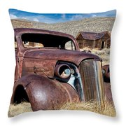 1937 Chevrolet Coupe At Bodie Throw Pillow