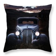 1937 Chevy At Dusk Throw Pillow