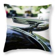 1937 Chevy Hood Ornament Throw Pillow