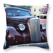 1937 Chevy Two Door Sedan Front And Side View Throw Pillow