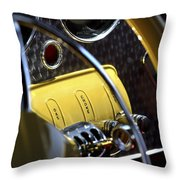 1937 Cord 812 Phaeton Controls Throw Pillow