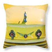 1937 Cord 812 Phaeton Grille Emblems Throw Pillow