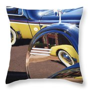 1937 Cord 812 Phaeton Reflected Into Packard Throw Pillow